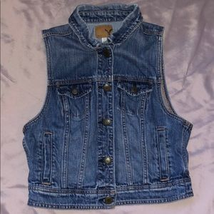 American Eagle jean vest with pockets size M